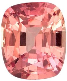 Pinkish Peach Padparadscha Sapphire Loose Gem in Cushion Cut, 4.9 x 4.1 mm, 0.54 carats