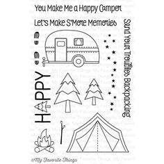 My Favorite Things ROUGHING IT Clear Stamps