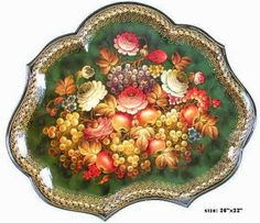 Russian tole painting (Zhostovo).  I want to buy a tray this shape, does anyone know where to find one?