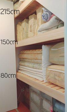 こだわりの布団収納 | *のんのおうち* 整理収納アドバイザー♢2階リビングの家 Marble Iphone Wallpaper, Japanese House, Home Organization, Shoe Rack, Storage Spaces, Small Spaces, Sweet Home, Flooring, Interior Design