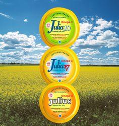 Julia- ja Julius kasvirasvavalmisteiden valmistukseen käytetään pastöroitua, rasvatonta maitoa sekä erikoisrypsiöljyä. Nämä tuotteet eivät sisällä lainkaan maitorasvaa.