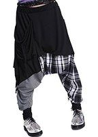 ELLAZHU Women Baggy Harem Hippie Rope Plaid Pants Onesize GY206