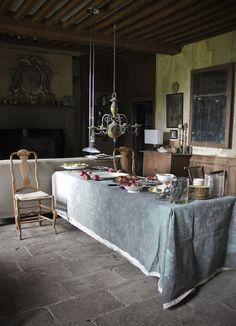Le Château, Peter Gabriëlse's home, Normandy, France, tea party