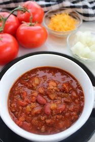 Life With 4 Boys: Wendy's Chili Copycat Slow Cooker Recipe