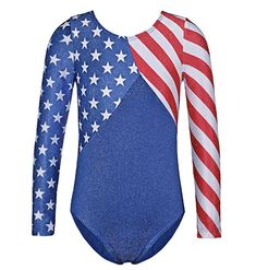 Flag Toddler Ballet Dress Long Sleeves Athletic Dance Leotards Dress Ballet Gymnastics Leotards Acrobatics for Kids Dance Wear Girls Gymnastics Leotards, Dance Leotards, Gymnastics Clothes, Gymnastics Wear, Athletic Outfits, Sport Outfits, Athletic Clothes, Toddler Ballet, Girl Train