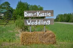 Country/Rustic Wedding Sign