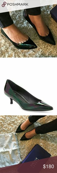 """""""JUST IN """" Stuart Weitzman Heels No scratch or rip  Rarely worn Comes with the original box  and dust bag COLOR : Black Petrol Patent 8/30/17 Stuart Weitzman Shoes Heels"""