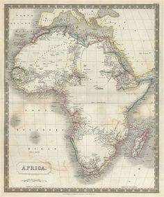 36 best Old Maps of Africa images on Pinterest | Antique maps, Old ...