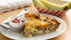 Impossibly Easy Cheeseburger Pie - also kinda like a quiche :) yummy either way!