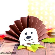 Paper Plate Hedgehog Craft - Fall Crafts for Kids - Easy Peasy and Fun Easy Fall Crafts, Fall Crafts For Kids, Paper Crafts For Kids, Easy Crafts, Art For Kids, Hedgehog Craft, Cute Hedgehog, Preschool Art Projects, Preschool Crafts
