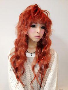 Hairstyles, elegant hairstyles, gyaru hair, her hair, cosmetic contact lens Gyaru Hair, Cosmetic Contact Lenses, Korean Makeup Tips, Gyaru Fashion, Circle Lenses, Color Lenses, Dye My Hair, Elegant Hairstyles, Asian Style