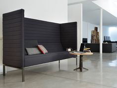Level 4 Designs - Stripes Collection. Really like this sofa, creates a space within a space for individual working or small group meetings