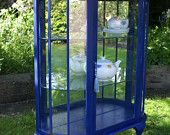 Wildgust & Graves Vintage 1940's china curio display cabinet, hand painted in Annie Sloane chalk paint