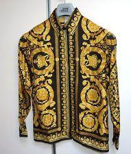 vintage Atelier Gianni Versace 1991 BAROCCO Silk Shirt ORIGINAL 42 EU * 8 USA King Fashion, Men's Fashion, Rich Life, Gianni Versace, Timeless Fashion, Men Sweater, Bling, Street, Coat