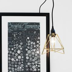Himmeli Pendant Lamp / Modern Accent Swag Lamp / Fabric Covered Cord / Minimalist Home Decor