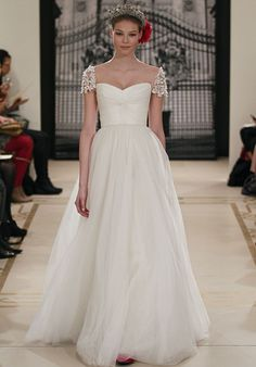 Love the sleeves! Wedding dress.