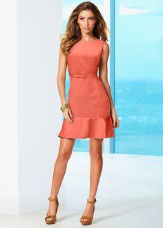 Vestido coral encomendar agora na loja on-line bonprix.de  R$ 99,90 a partir de Vestido tubinho com modelagem marcada e babados na barra, deixando você ...