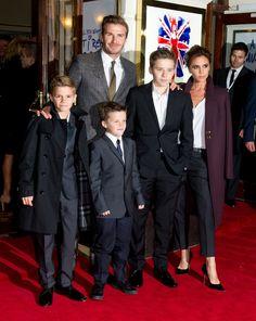 The Beckham family at the Viva Forever! premiere
