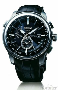 Seiko Astron Watch GPS Solar Dual Time Titanium Black