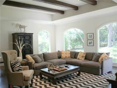 front room sectional and rug