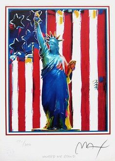 United We Stand, Ltd Ed Lithograph, Peter Max - SIGNED with COA – Art Commerce
