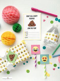 Emoji party kit printable #partykit #printable #template #freeprintable #emoji