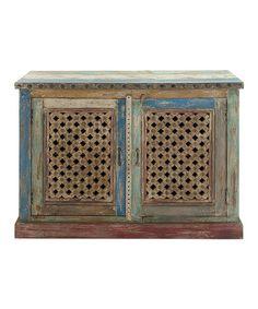 Look what I found on #zulily! Wood Jali Cabinet #zulilyfinds