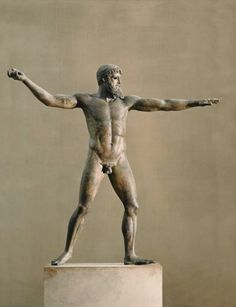 Artemision Bronze (representing either Poseidon or Zeus), Greek, c. 460 B.C. National Archaeological Museum, Athens.