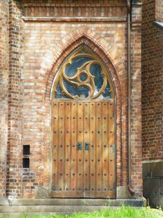 Door to Tønsberg Cathedral, Norway