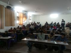 Students attending Screening test during one of the #Campus #Recruitment #Drive