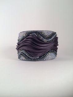 Hey, I found this really awesome Etsy listing at https://www.etsy.com/ru/listing/222492234/ooak-shibori-silk-cuff-seed-beads-bead
