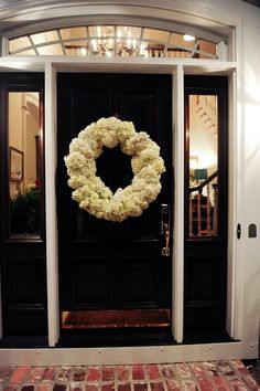 DIY Hydrangea Wreath. Only 3 steps for the complete look.