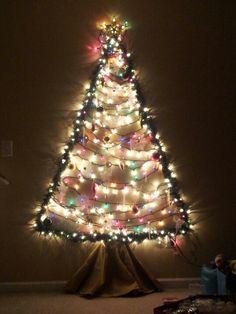 Our awesome treeless Christmas tree :-)