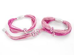 So pretty! (But need to wait till artbeads is having a store wide sale, ugh... Want it now, it is BCA month!) Pink Charisma Bracelets | Artbeads.com