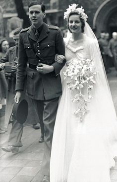 Kathleen Kick Kennedy's in laws - Andrew Cavendish and Deborah Mitford married in 1941.