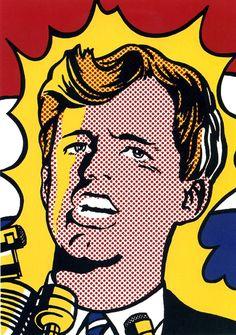 Roy Lichtenstein - Bobby Kennedy (1968)