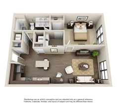 View The Julian at Fair Lakes Apartment Floor Plans - Studios, Bedrooms - Bozzuto Dream House Plans, Small House Plans, House Floor Plans, Sims House Design, Bungalow House Design, Apartment Floor Plans, Bedroom Floor Plans, Home Building Design, Apartment Layout