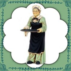 Here at Butlers and Signs, there is something for everyone. This Old Lady Butler Statue is made from the most durable resin.  Very uniquely designed and sure to impress with her intricate design. She has very life like features that is impossible to ignore. Shipping is included in the price. Shop today!