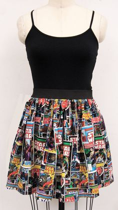 Dress in Star Wars Print with Built in Tank by GoChaseRabbits on Etsy, $54.99