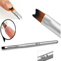 1 UNIDS #8 Abedul Acrílico UV Gel Esmalte de Uñas Arte Pintura Dibujo French Tips Manicura Diseño Pen Brush Herramientas de BRICOLAJE de Alto Nivel de Nylon