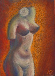 """""""Milo Venuse ainetel"""" pastellmaal / pastel painting 29,7 x 21 cm, Keiu Kuresaar"""