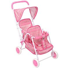 You & Me Twin Doll Stroller - Pink