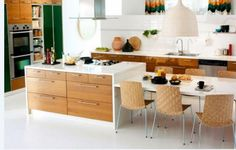 kitchen island dining table combo - Google Search