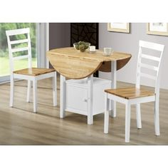 Simple Living Rubberwood 40-inch Diameter Round Drop-leaf Table | Overstock.com Shopping - The Best Deals on Dining Tables