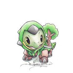 Day 3- Q-:Favorite Starter Pokemon? A: Turtwig. Even though Serperior is my favorite Pokemon, Snivy is not my favorite starter. Turtwig is, because it's just so lovable!!!! And it evolves into Torterra, which is fierce and just plain awesome :) @KristenAnalise