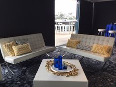 Barcelona 2.5 seater lounge, perfect for any event! By Rocket Event Services. See more at www.rocketevents.com.au