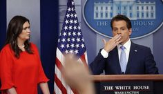 The White House communications director mentioned Sanders' appearance after talking about her job performance.Sarah Huckabee Sanders watches as incoming White Anthony Scaramucci, Sarah Huckabee Sanders, Trump Train, Trending Now, Political News, Climate Change, Her Hair, Donald Trump, Hair Makeup