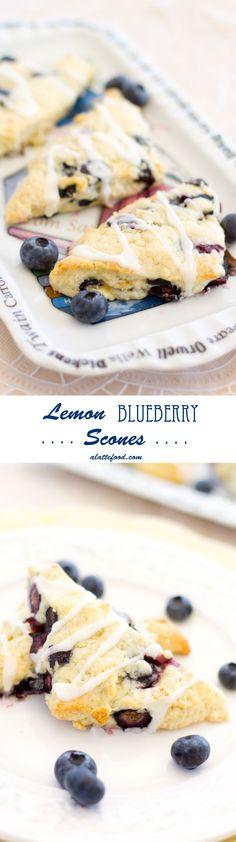 Lemon Blueberry Scones | The BEST. Light, fluffy, and bursting with flavor!