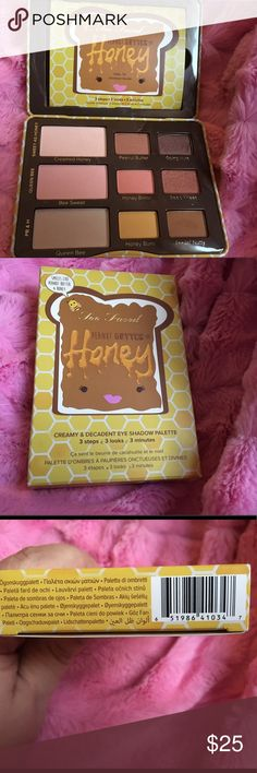 Too Faced Peanut Butter and Honey Palette Used less than 5 times and from a smoke free home.  Lowest price and no trades.  Thank you for looking. Too Faced Makeup Eyeshadow