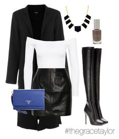 """""""Miami Date Nights #midtown"""" by graciep0o on Polyvore featuring Warehouse, Jeane Blush, BLK DNM, Jimmy Choo, Prada, House of Harlow 1960 and Vapour Organic Beauty"""